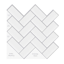 Load image into Gallery viewer, Large Classic Herringbone Tiles 3D Peel and Stick Tiles