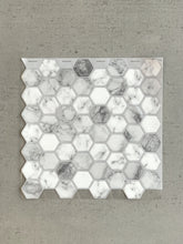 Load image into Gallery viewer, Marble Hexagon Tiles 3D Peel and Stick Tiles