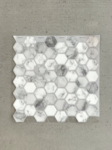 Marble Hexagon Tiles 3D Peel and Stick Tiles