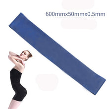 Load image into Gallery viewer, 5 Colors Yoga Resistance Rubber Bands Indoor Outdoor Fitness Equipment 0.35mm-1.1mm Pilates Sport Training Workout Elastic Bands