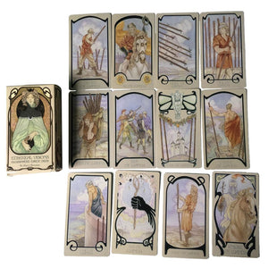 80PCS Ethereal Visions Illuminated Tarot Tarot Cards Oracle Game Card Family Holiday Party Playing Cards English Tarot Game Card