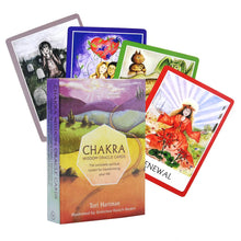 Load image into Gallery viewer, 44 Pcs Chakra Tarot Card Board Game Card Friend Family Party Playing Card Game Entertainment Mysterious Tarot Board Game Cards