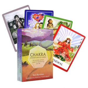 44 Pcs Chakra Tarot Card Board Game Card Friend Family Party Playing Card Game Entertainment Mysterious Tarot Board Game Cards