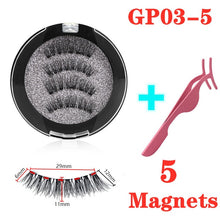 Load image into Gallery viewer, 3D magnetic eyelashes With 3/4 Magnets handmade makeup Mink eyelashes extended false eyelashes Reusable false eyelashes Dropship