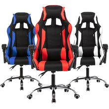 Load image into Gallery viewer, Game Computer Chair High Quality Adjustable Office Chair Leather Gaming Chair Black for Home Office Game Competitive