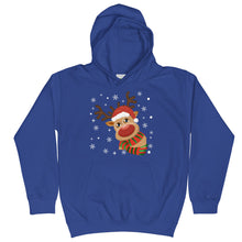 Load image into Gallery viewer, Rudolph The Red Nosed Reindeer Kids Royal Blue Hoodie | Isle of T
