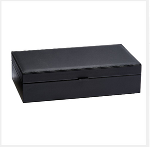 Men's Black Leather Jewelry Watch Bracelet Ring Box | Unique Gifts For Dad Men - Everything Man Shop