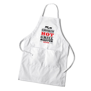 Personalized White Culinary BBQ and Grilling Cooking Aprons | Creative Gifts For Men - Everything Man Shop