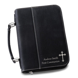 Large Personalized Monogrammed Leather Personalized Bible Carrying Case Cover Bag - Everything Man Shop