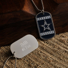 Load image into Gallery viewer, Men's Personalized NFL Fan Team Dog Tags - Everything Man Shop