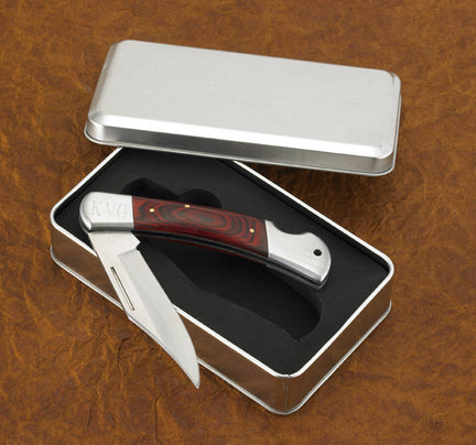 Engraved Monogrammed Wood Handle Outdoorsman Knife - Everything Man Shop