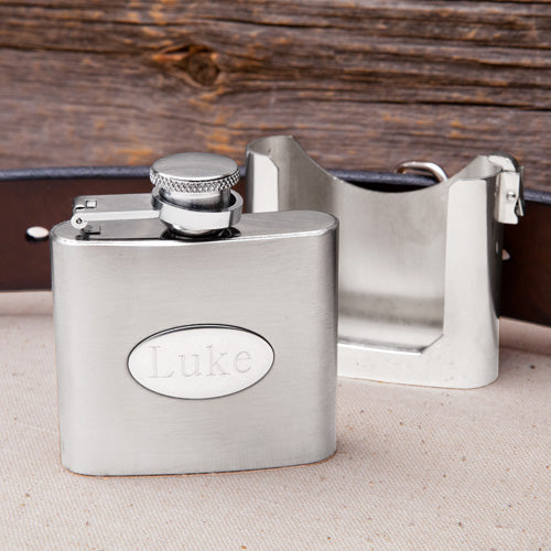 Personalized Engraved Stainless Steel Belt Buckle Flask - Everything Man Shop