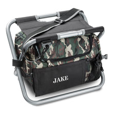 Load image into Gallery viewer, Personalized Camouflage Fishing Camping Insulated Cooler Seat - Everything Man Shop