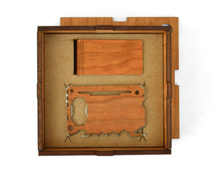 Wood Multi Tool And Money Clip Box Set | Wood Gifts For Him - Everything Man Shop