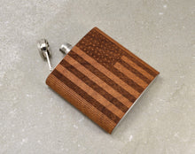Load image into Gallery viewer, Cherry Wood American Flag Flask | Unique Gifts For Women - Everything Man Shop