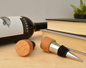 Engraved Wood Wine Bottle Stopper | Unique Gifts For Men - Everything Man Shop