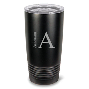 Personalized Black Matte Double Wall Insulated Beverage Tumbler - Everything Man Shop