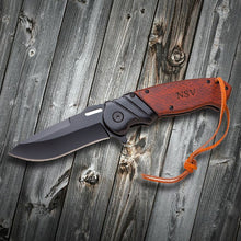 Load image into Gallery viewer, Personalized Wood Handle Spring Assisted Pocket Knife - Everything Man Shop