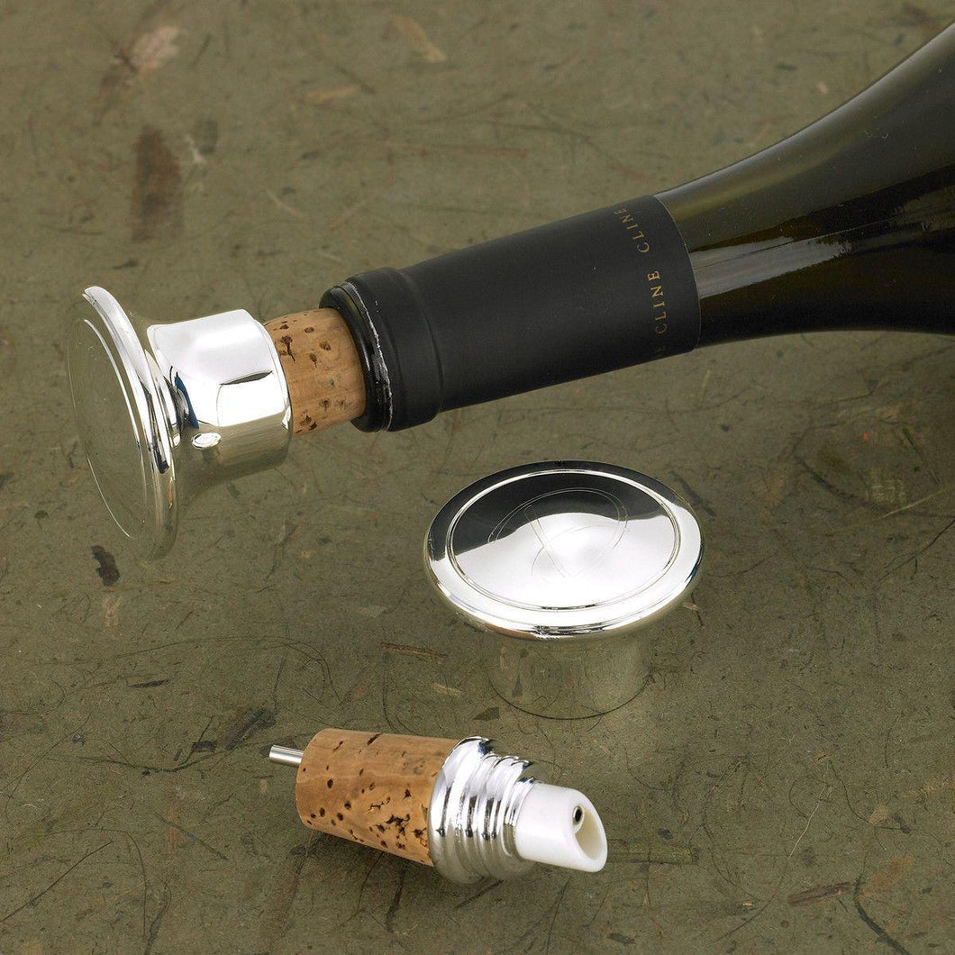 Personalized Wine Bottle Stopper Pourer - Everything Man Shop