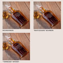 Load image into Gallery viewer, Personalized Vintage Glass Whiskey Bourbon Flasks - Everything Man Shop