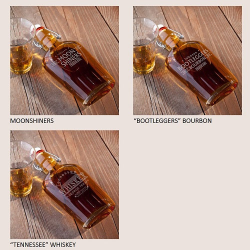 Personalized Vintage Glass Whiskey Bourbon Flasks - Everything Man Shop