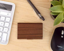 Load image into Gallery viewer, Wood Business Card Case Holder | Executive Gifts For Men - Everything Man Shop