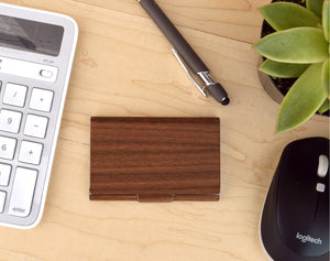 Wood Business Card Case Holder | Executive Gifts For Men - Everything Man Shop