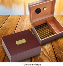 Load image into Gallery viewer, Personalized Cherry Wood Cigar Humidor Box | Unique Gifts For Men - Everything Man Shop