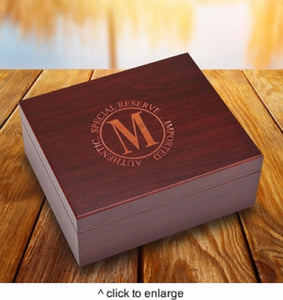 Personalized Laser Engraved Wooden Humidor Cigar Box | Unique Gifts For Men Dad - Everything Man Shop