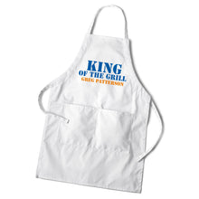 Load image into Gallery viewer, Personalized Custom White Grilling Culinary Cooking BBQ Apron | Men's Personalized Gifts - Everything Man Shop