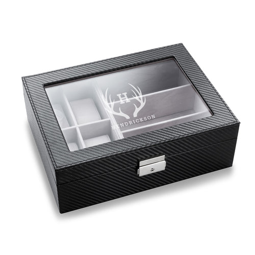 Men's Monogrammed Watch and Sunglasses Box - Everything Man Shop