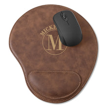 Load image into Gallery viewer, Men's Personalized Rustic Faux Leather Computer Mouse Pad - Everything Man Shop