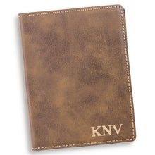 Load image into Gallery viewer, Personalized Custom Rustic Passport Holder - Everything Man Shop