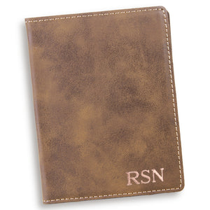 Personalized Custom Rustic Passport Holder - Everything Man Shop