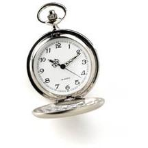Engraved Men's Brushed Silver Pocket Watch Timepiece - Everything Man Shop