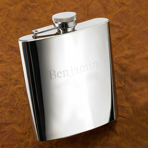 Personalized Engraved Stainless Steel High Polish 7 oz. Flask - Everything Man Shop