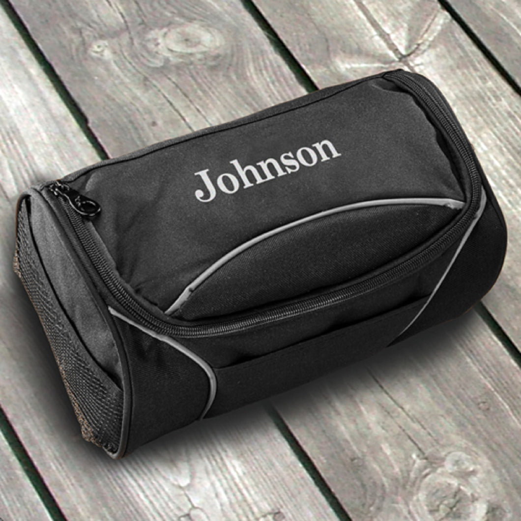 Personalized Hanging Canvas Travel Toiletry Grooming Bag For Men - Everything Man Shop
