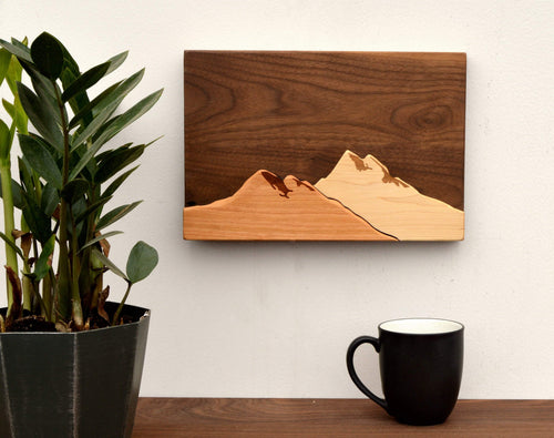 3D Wood Mountain Hanging Wall Art | Creative Gifts For Man Cave - Everything Man Shop