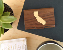 Load image into Gallery viewer, Wood State Logo Business Card Case Holder | Executive Gifts For Men - Everything Man Shop