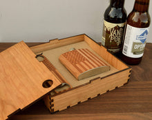 Load image into Gallery viewer, Wood Flask And Bottle Opener Box Gift Set | Sustainable Gifts For Men - Everything Man Shop