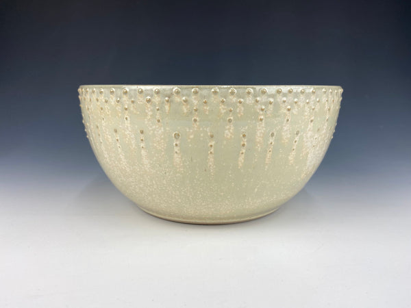 Large Dotted Serving Bowl, Green Firefly