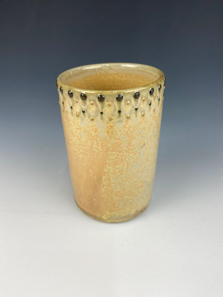 Dotted pencil holder, Marigold Firefly