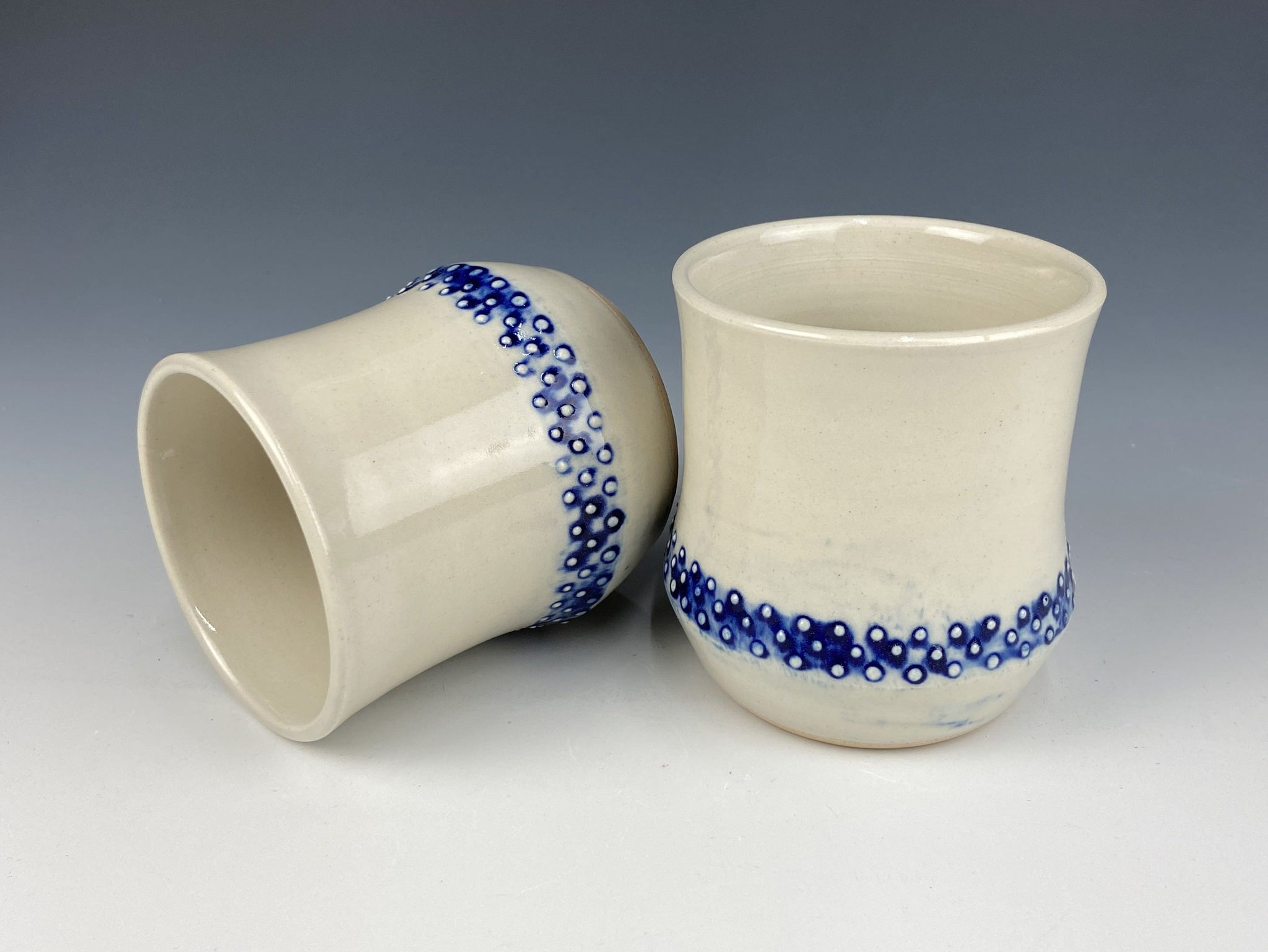 Dotted wine cup set, Bleeding Cobalt, 2