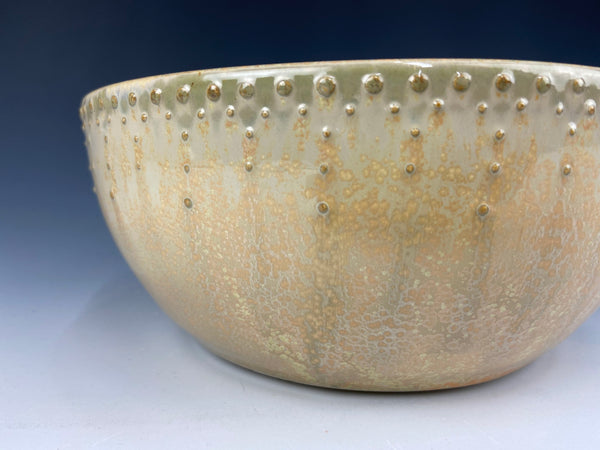Small Dotted Serving Bowl, Marigold Firefly