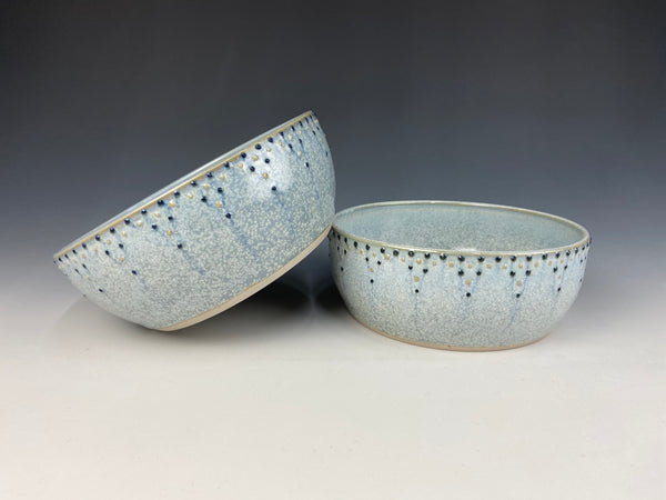 Dotted personal bowl set, light blue Firefly
