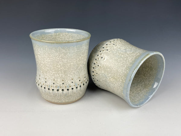 Dotted wine cup set, light blue Firefly, 2