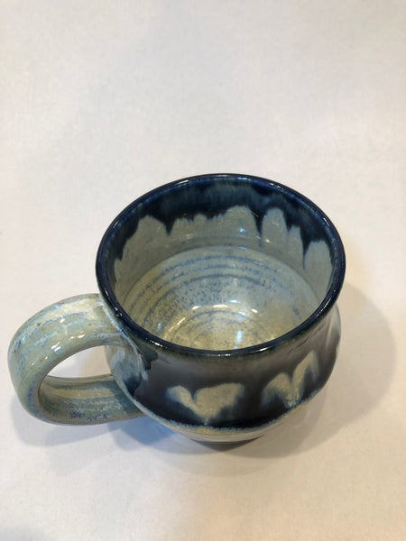 Angular Mug, white Firefly with midnight blue drips, 1