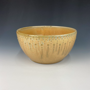 Large Dotted Serving Bowl, Marigold Firefly