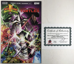 Power Rangers Teenage Mutant Ninja Turtles #1 Cover Alpha Matt Frank Exclusive SIGNED