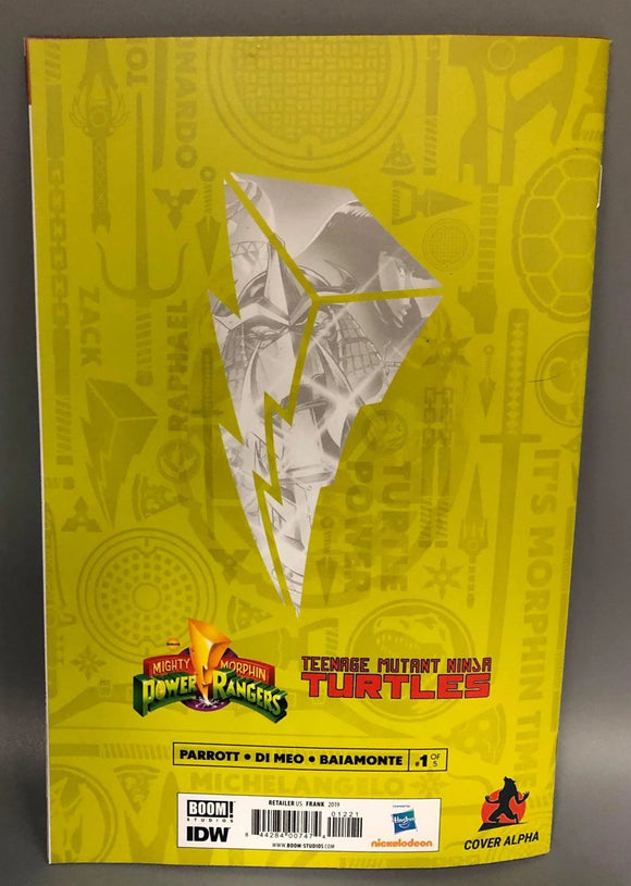 Power Rangers Ninja Turtles #1 Virgin Turtle Shell ERROR Copy